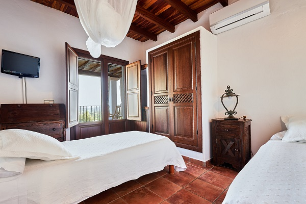 Twin bed in the villa